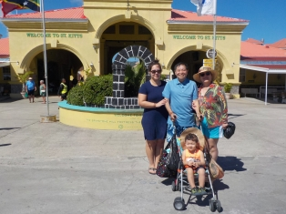family picture at St. Kitts